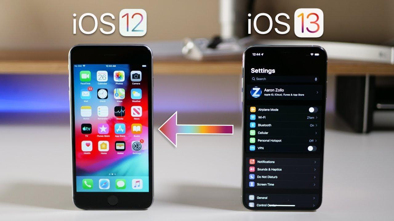 ios 12 and ios 13