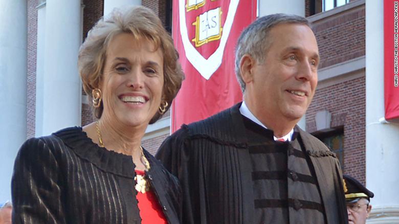 Harvard's president wife
