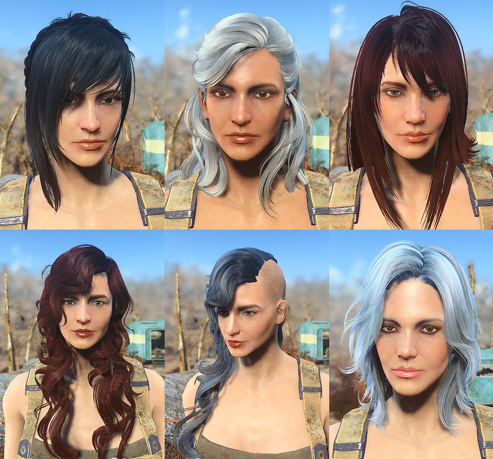 fo4 misc hairstyles