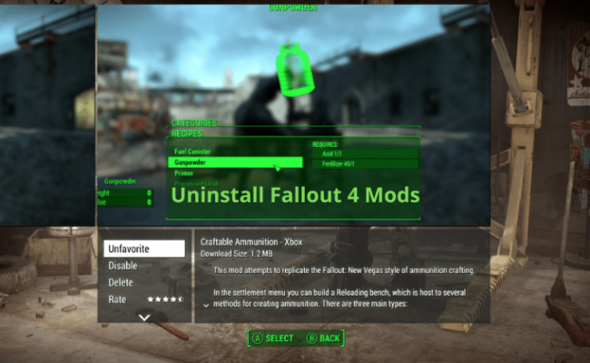 Uninstall Fallout 4 Mods (1)