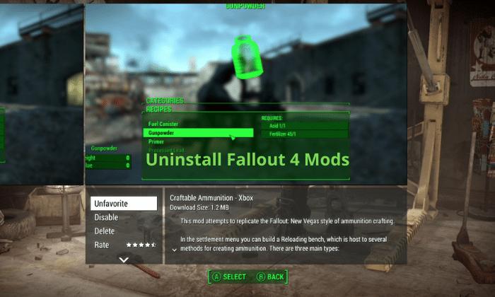 Uninstall Fallout 4 Mods (1)