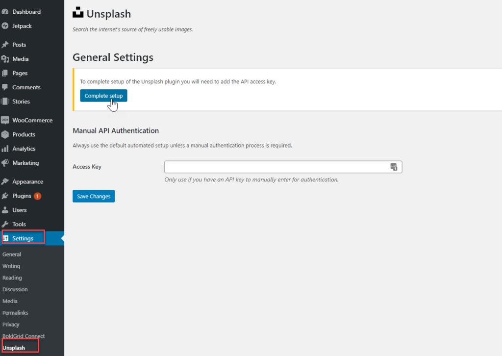 Unsplash_setting