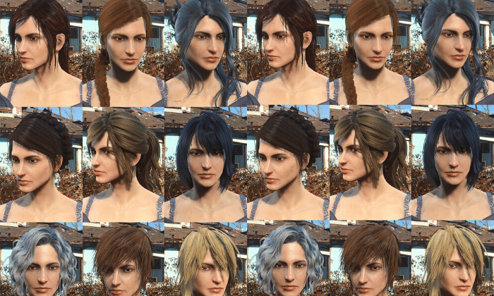 misc hairs for fallout 4 by ahterisz