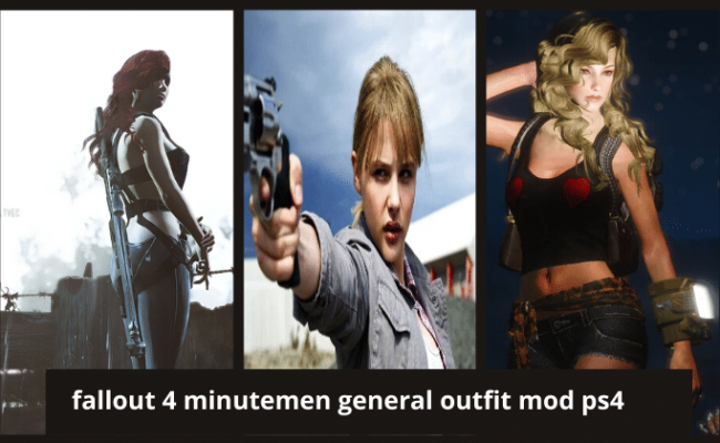 fallout 4 minutemen general outfit mod ps4
