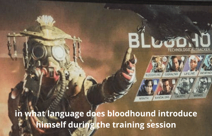 in what language does bloodhound introduce himself during the training session