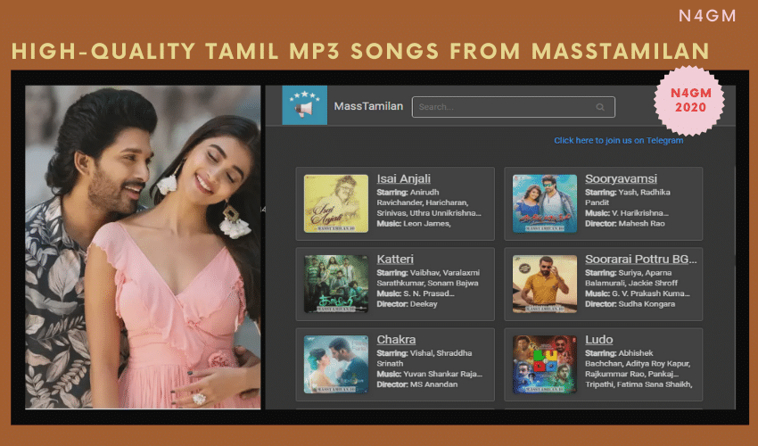 How To Download High-Quality Tamil Mp3 Songs From Masstamilan?