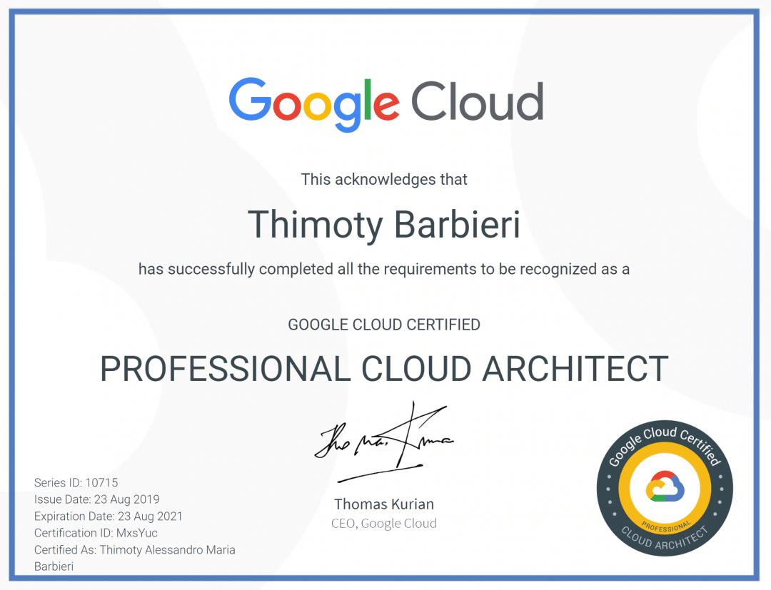 Cloud Architect Certification