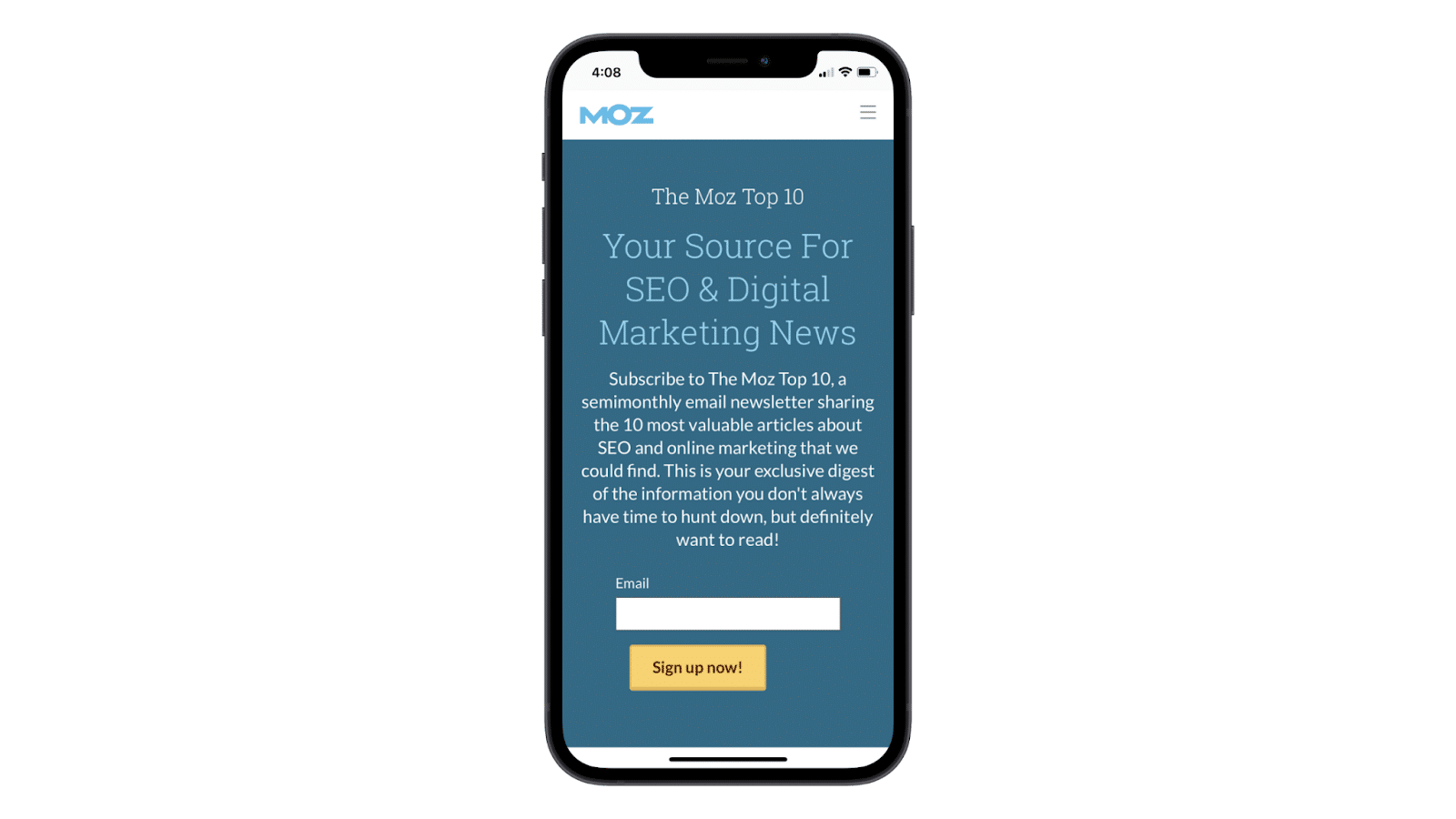 Make Your Email Sign Up Form Responsive