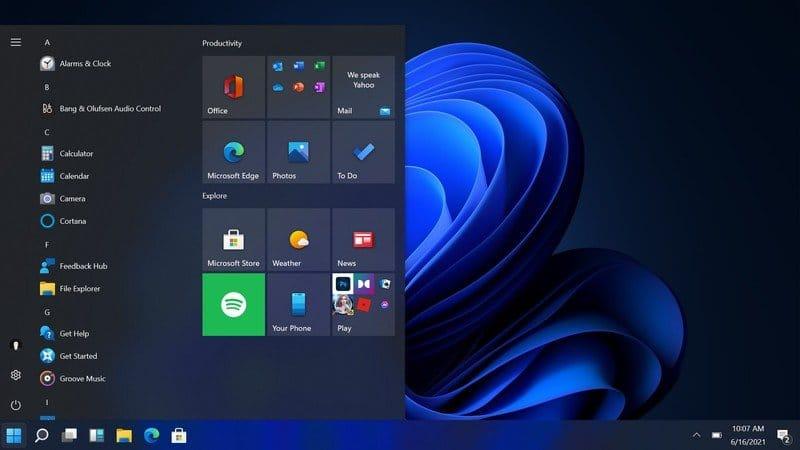 Windows 11 - Start