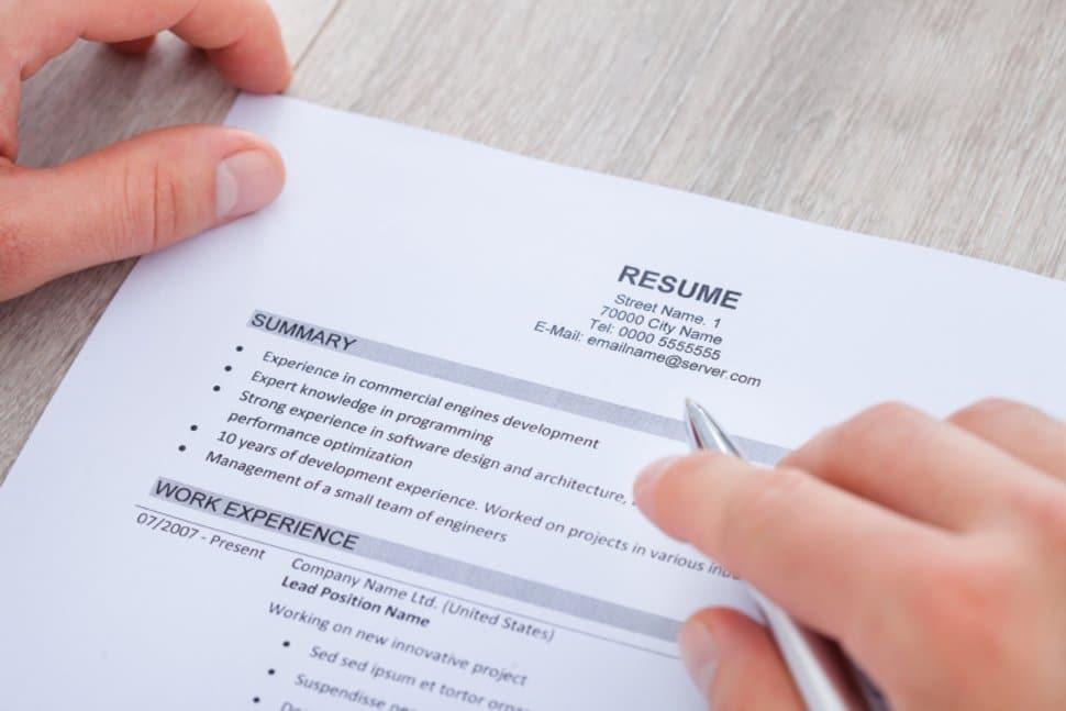 Electronic Resume Format